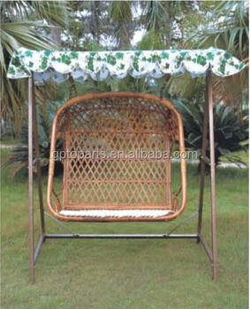 Hangmat Stoel Met Standaard.Bamboe Rotan Stoel Met Standaard Kussen Bamboe Meubels Hangmat