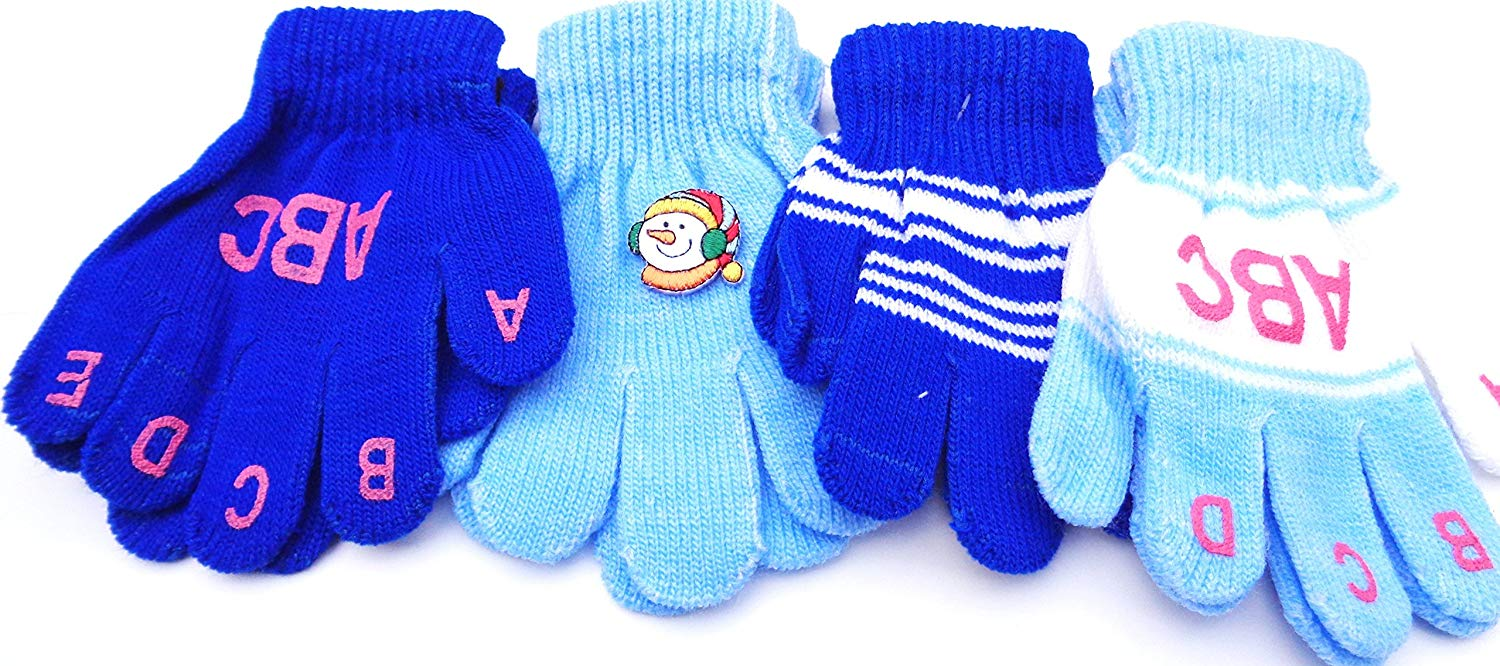 Gloves & Mittens Set of Four Pairs Magic Gloves for Infant Boys and Toddlers Ages 1-4 Years Accessories