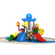 Good Price Several Towers Outdoor Playground Upright Play Slide with Beautiful Roof Decoration