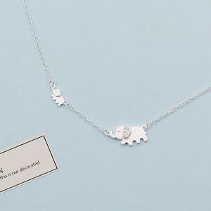 Fashion Jewelry 2017 Silver cute elephant Necklace