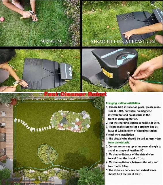 Cheapest Robot Lawn Mower Grass Cutter E1800S Garden Mowing Robot With 2.2AH Li-ion Battery, Water-proofed charger 10