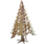 Laser cut freestanding wooden ornament Christmas tree