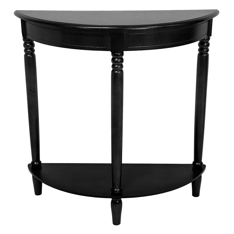 black hallway table. Crescent Console Table - Half Moon Hallway Entryway Media Desk Storage Home Furniture Black