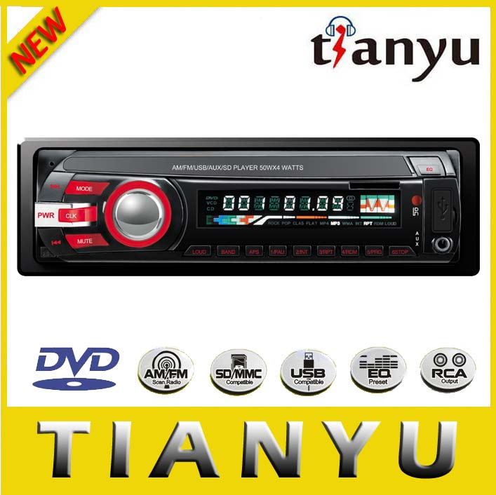 JL9068: 1 din car dvd player with USB/SD flip down car audio panel