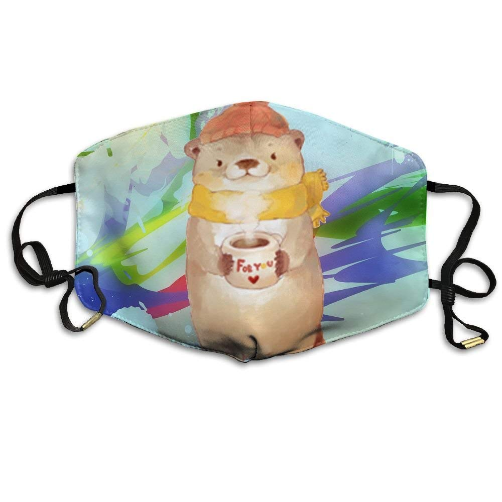 TYPU Polyester Reusable Dust The Cute Bear Holds A Jar Of Honey Mask Health Care Mask