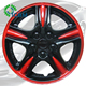 Universal car colored Wheel Covers Universal Hubcap Rim Cover 13 14 15 16 ABS auto plastic custom hubcaps
