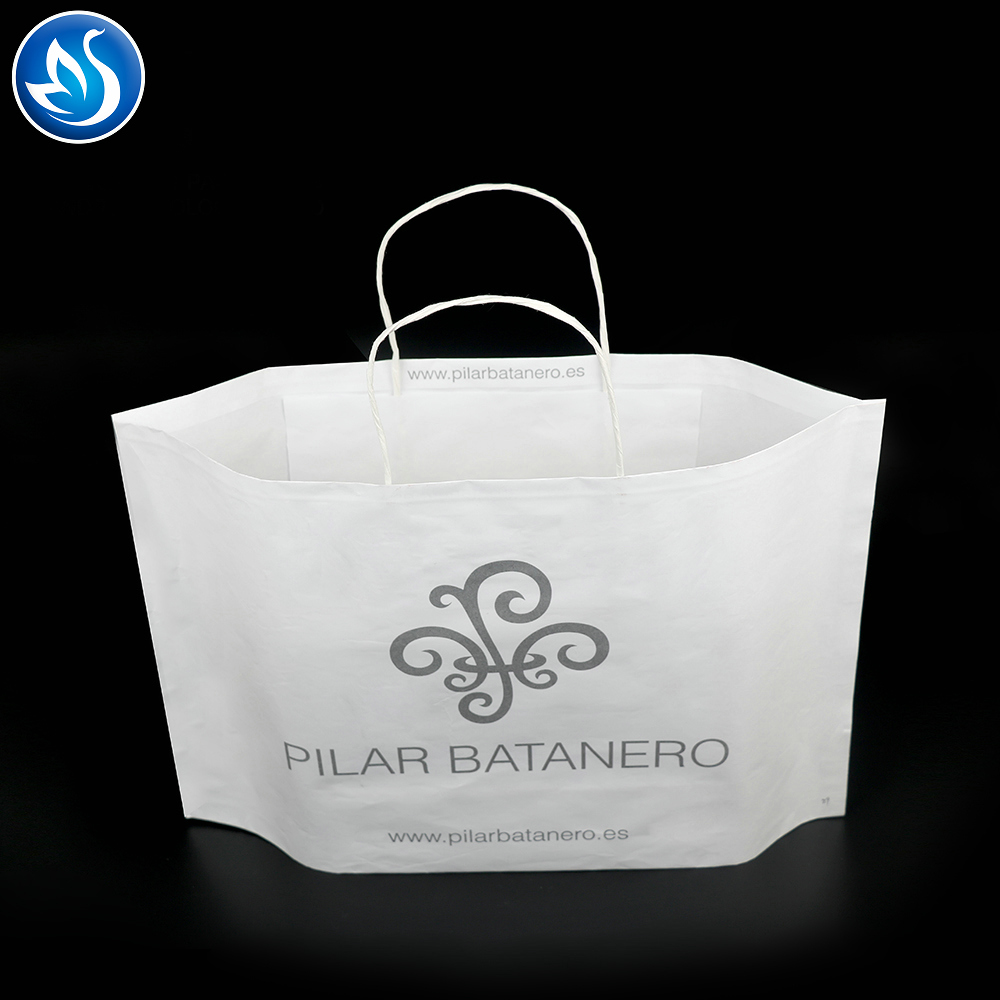 Wholesale Logo Printed retail paper shopping bag with handle