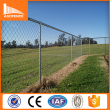 A.S.O factory wholesale galvanized chain link fence panel/diamond 50*50mm mesh football field fence