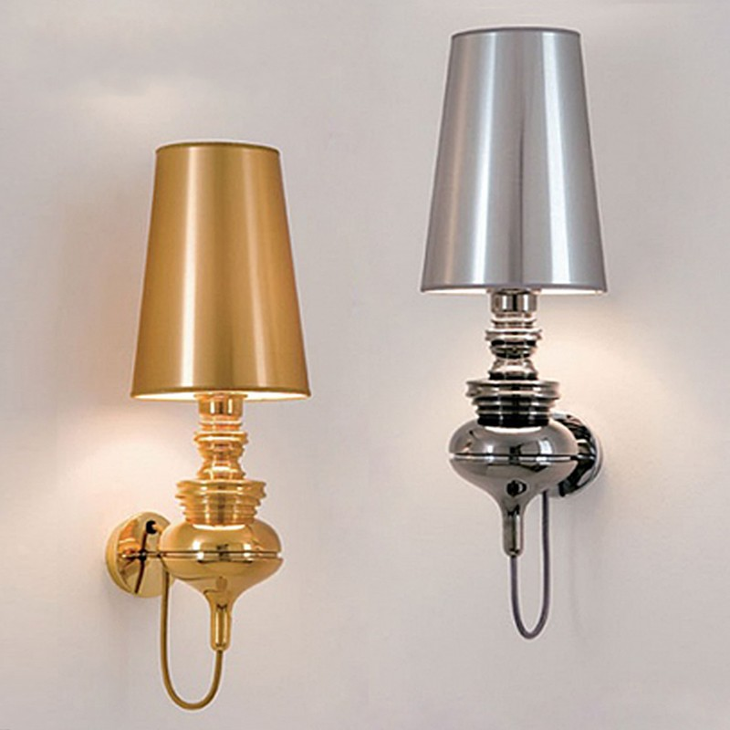 Modern mini bedroom wall lights simple bedside lamp ...