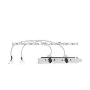 PS/2 Keyboard & Mouse panel mount Cable with Bracket screw lock