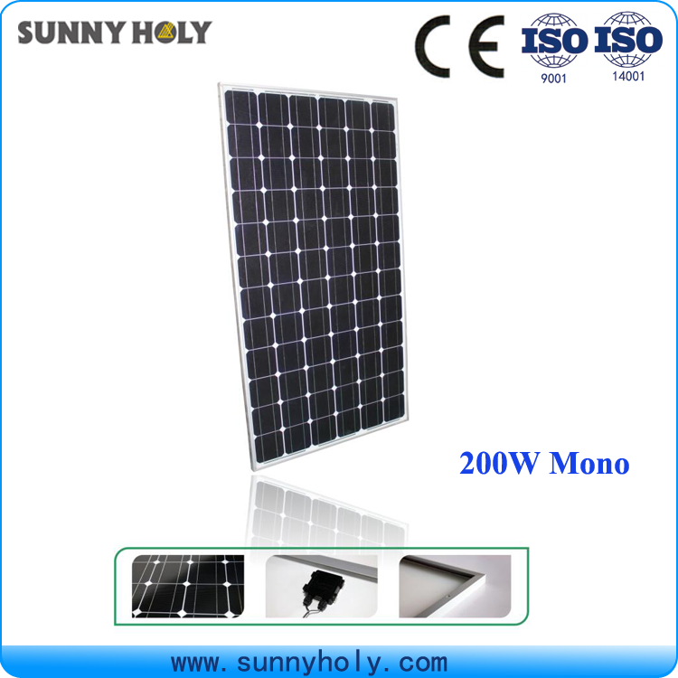 Factory directly sale best quality 200w 210w Mono solar panel best price for hot selling solar panel Mono