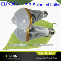 2013 new 6w led bulb lamp, PIR solar motion led bulb