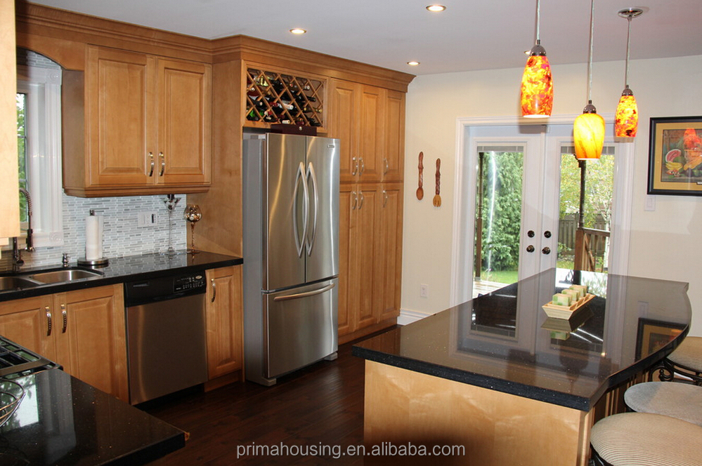 Environmentally Friendly Arch Design Solid Wood Kitchen Cabinet Part 95