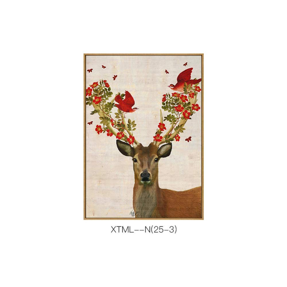 STTS Fresh and pastoral modern decorative painting, animal pattern creative and exquisite living room bedroom single hanging painting, inkjet painting