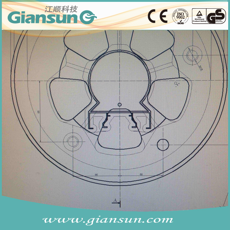 Giansun China H11 H13 aluminum sliding window profile section extrusion extrude mould with European standard