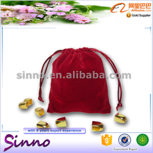 hot sale custom velvet jewelry packaging bag can custom as christmas tree bag and gift bag