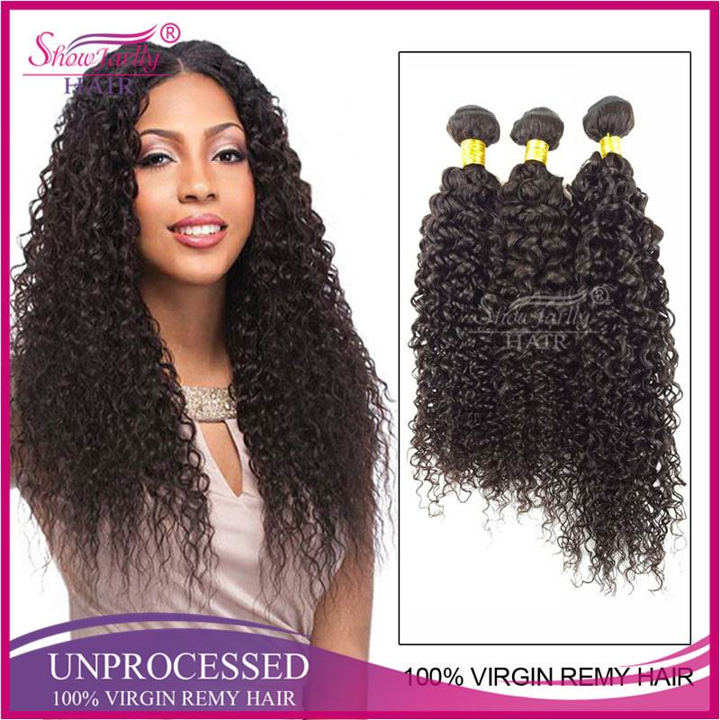 Indian Hair Bundle Human Hair Weave Top Quality Black Curly Hair Extensions Factory Price Jerry Curl Hairstyles