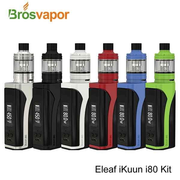 2017 newest products Eleaf IKUUN i80 with Melo 4 Starter Kit 2ml D22 and 4.5ml D25