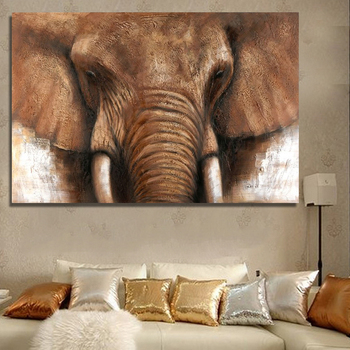 Handmade Canvas Wall Art Abstract Elephant Animal Oil Paintings Reproduction From China High Quality Home Decoration Buy Wall Art Abstract Elephant