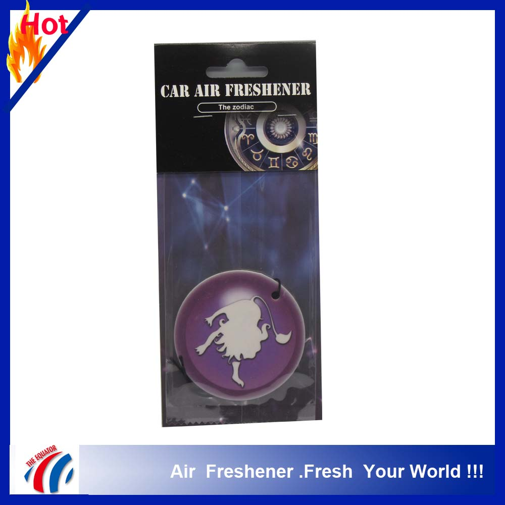 OEM custom design promotion car air freshener paper with different fragrance