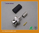 male plug crimp rf coaxial bnc connector for rg58 cable lmr195 cable