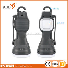 Popular Multifunctional LED Camping Lantern LED Hand Lantern Powered by AAA Batteries and Rechargeable