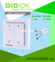 European standard 2 g 1 way switch with light smart home wall socket european standard wireless