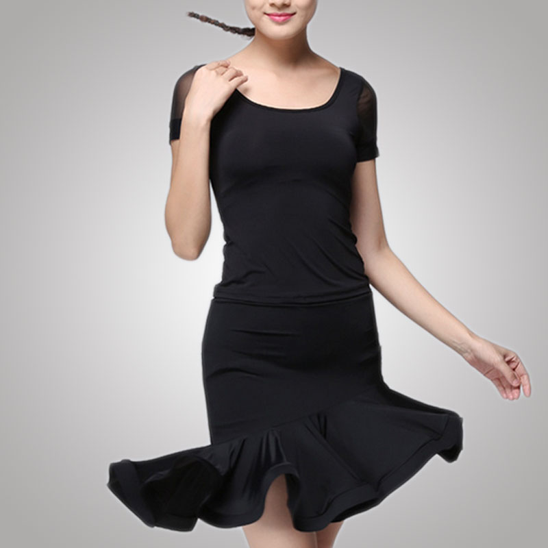 Free Shipping Hot Sexy Style Ladies Clothes Thin Latin Dance Dress With Cheap Price