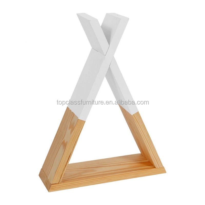 NPW004WH Morden Style New Design Triangle  Home Kids  Storage Shelf