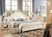 2017 new leisure Antique bedroom sets used solid wood and MDF to finish for home furniture sets