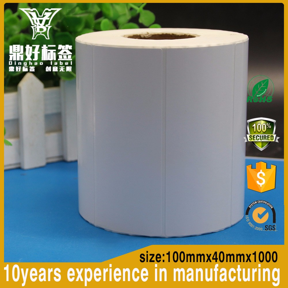 Free Sample Blank Adhesive Sticker Paper 100x40mm New