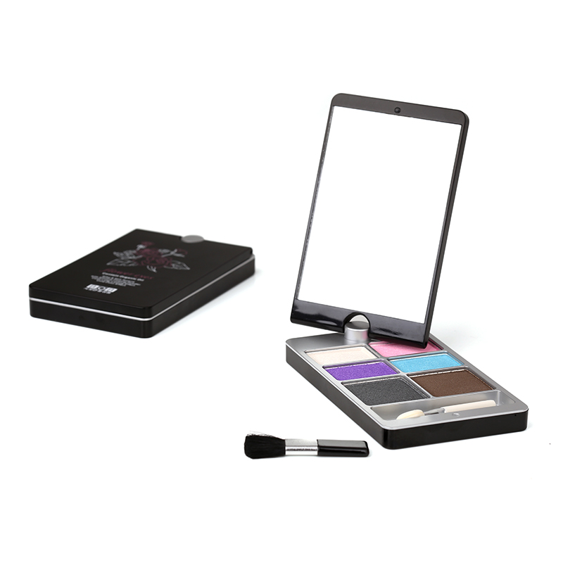 Two In One 5 Color Eyeshadow And Eyebrow Powder Palette