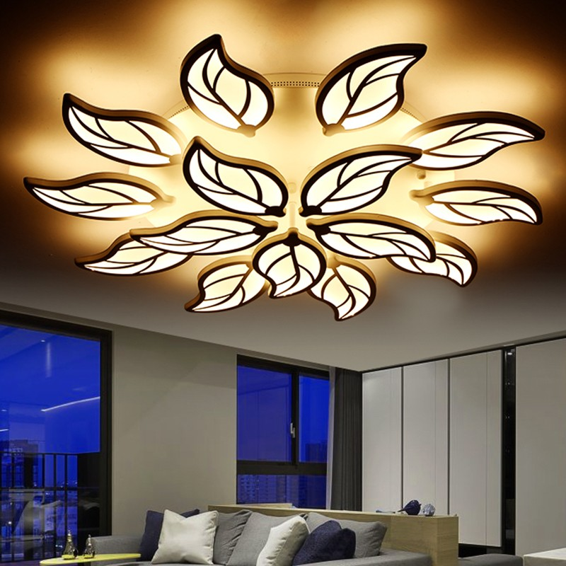 Modern LED Ceiling Lights for living room bedrooms flower shape ceiling lamp LED remote controller LED ceiling lamps MD1027