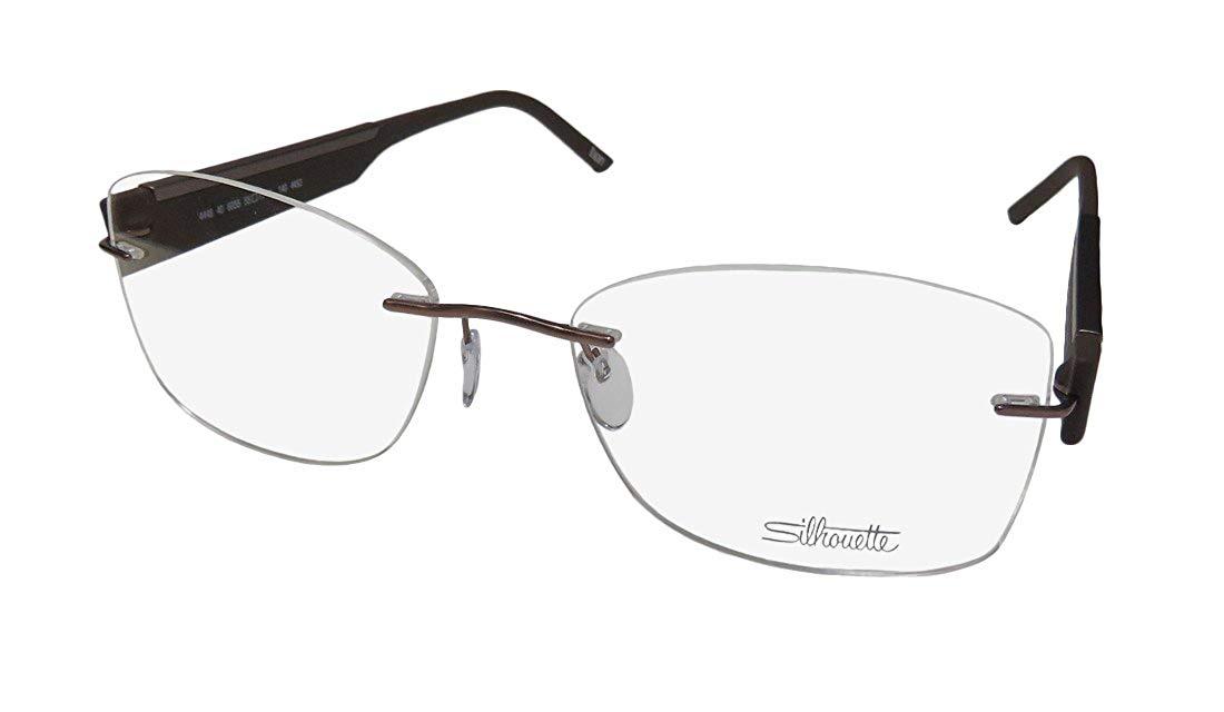 318c170f3cd Get Quotations · Silhouette 4448 Womens Ladies Designer Rimless Titanium  Eyeglasses Eyewear (55-17-