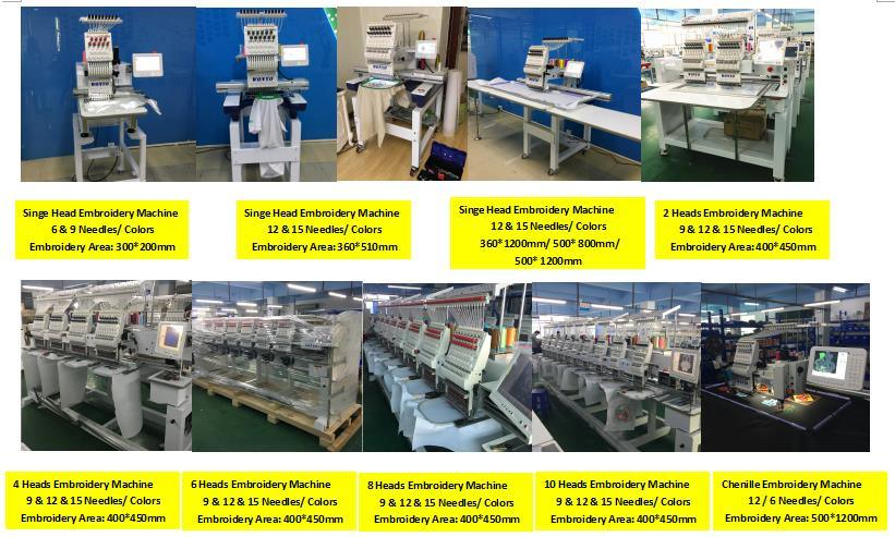 Industrial embroidery machine 8 head Monogramming Embroidery Machine for Cap/ T shirt and Flat Embroidery