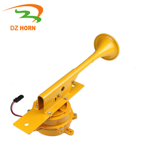 135DB 12V/24V Federal Signal electric Horn Mechanism construction Gray /yellow black 52 resonation horn for heavy duty vehicles