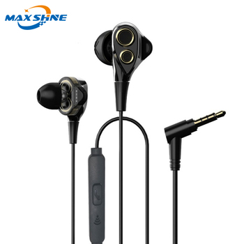 maxshine Super Heavy Bass Noise Isolation Wired Earphone with Microphone for All Smart Phones guangzhou