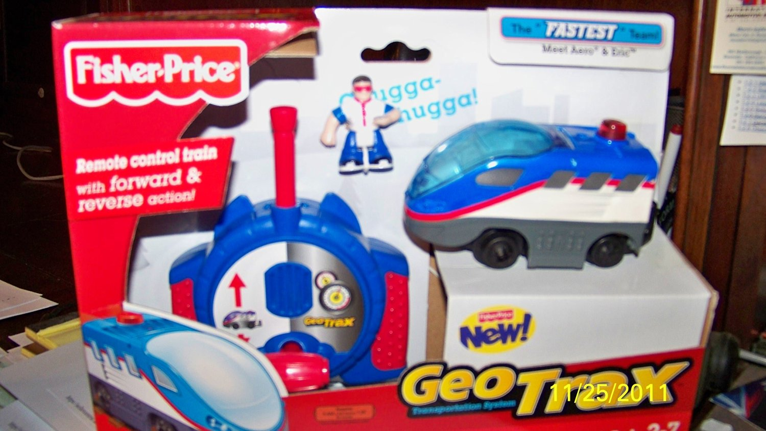 Geotrax the Fastest Team Meet Aero & Eric Remote Control Train Set New Style Geo Trax