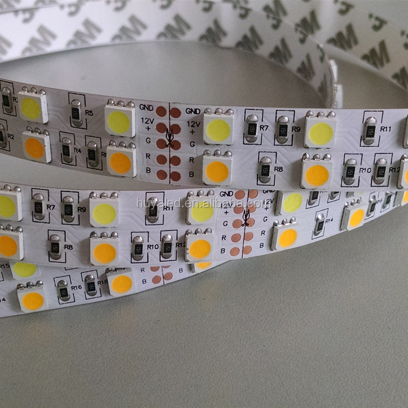 CCT 5050 double row 120leds/m DC12V/24V double color CW+WW led strip
