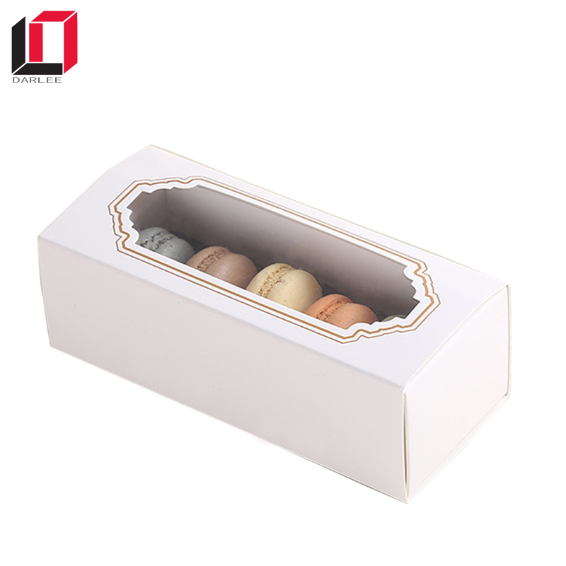 Wholesale Customized Window Macaron Packaging gift packaging Box
