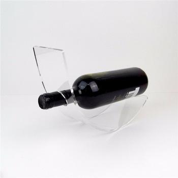 Whole Acrylic Single Wine Display Rack Bottle Holder