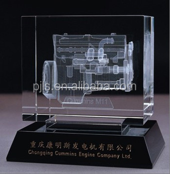 Wholesale China Clear Crystal 3d Laser Engraved Glass Cube