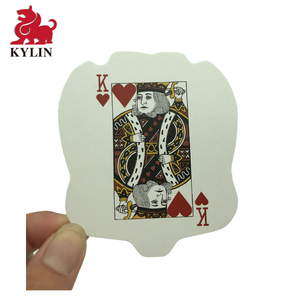 Custom cartoon figure Playing Cards, Irregular Shaped Game Cards Printing Paper Playing Card Customized