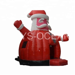 Inflatable Santa Claus Bouncer Christmas Jumpers Playground Toys for Kids