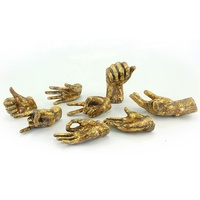 Gold Leaf Decorations Resin Hand Sculpture Wall Decor