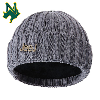 1af256d64807e Black Hype A-4 Watch Caps Touca Custom Metal Patch Cute Winter Acrylic  Beanie Knit