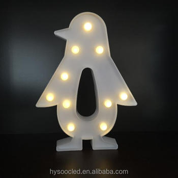 2017 Xmas Wedding Led Penguin Marquee Letter Lights Hot Ing Standing Symbol Decoration In Electronic Wall