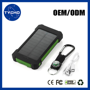 Portable Charger External Battery Power Bank 10000mAh Rechargeable Portable Solar Power Emergency Led Flashlight Solar Charger