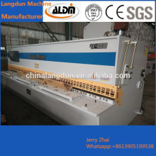 All steel welded structure with good rigidity and stability QC12Y 4*2500mm Hydraulic shearing machine foreign sold