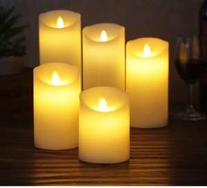 battery operated flameless christmas led lights candles real wax with remote control/LED candle light